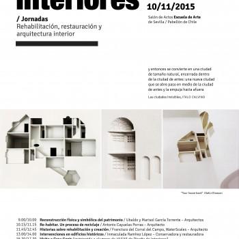 cartel de Jornadas Rehabilitacion en Sevilla